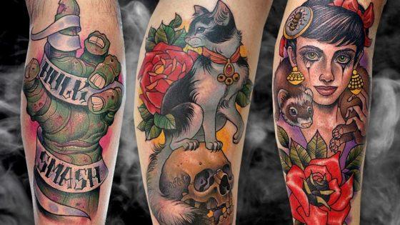 Tattoo, Idee, Katze, Schädel, Blume, Lettering, Insekt, Mader