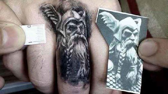 Tattoo, Idee, Wikinger, Finger, Kleinigkeit