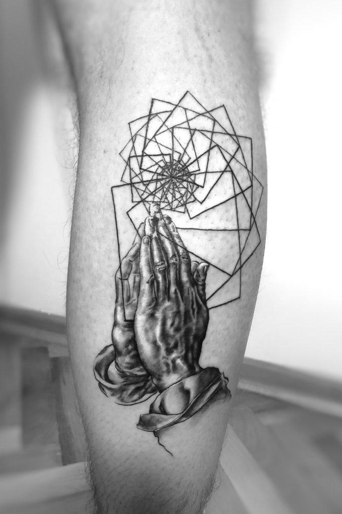 Durer Hande Tattoo Spirit