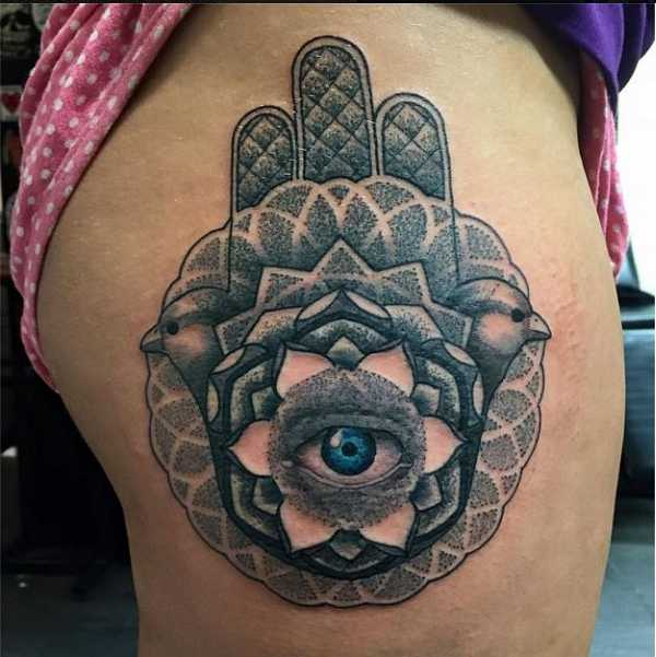 Tattoo männer hand fatima Hamsa Meaning
