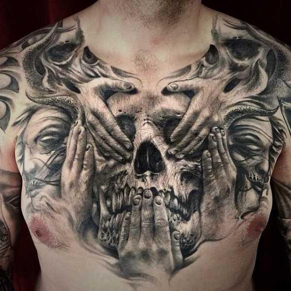 Motive brust tattoos männer 75 Schöne