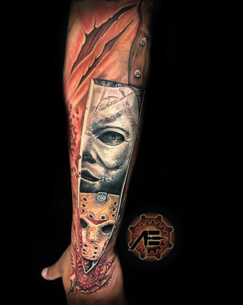 Biomechanik Tattoo Ganzer Arm roman abrego - tattoo spirit