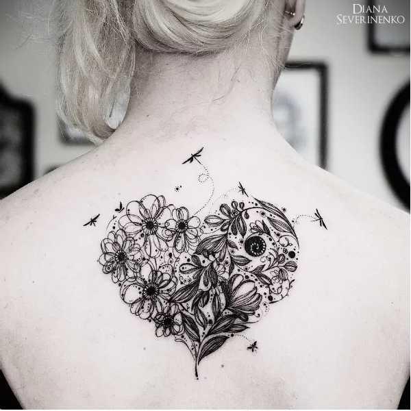 blüten tattoo