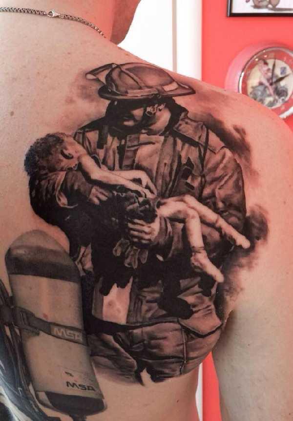 15 grandiose Firefighter-Tattoos