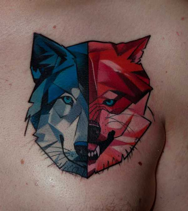 Tänzchen Mit Tätowierten Wölfen Tattoo Spirit