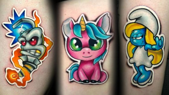 Tattoo, Idee, Newschool, Comic, Sticker