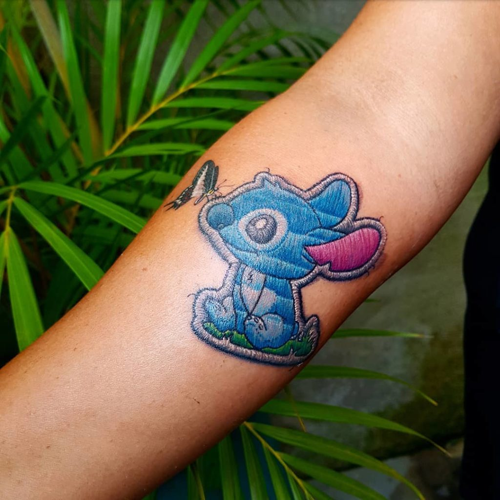Tattoo, Idee, Insekt, Alien, Walt Disney, Newschool, Stitch, Unterarm, Aufnäher