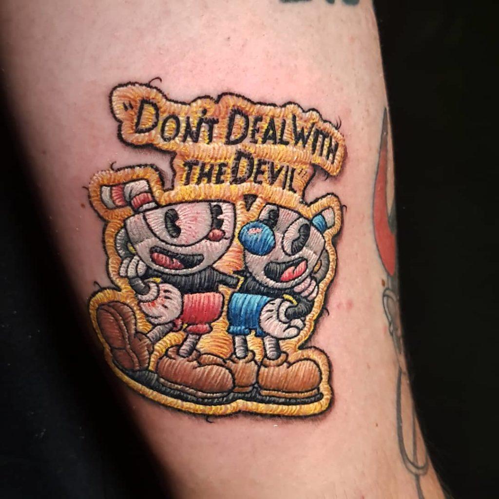 Tattoo, Idee, Newschool, Lettering, Aufnäher