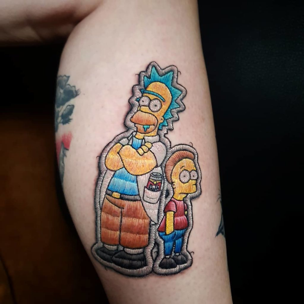 Tattoo, Idee, Homer, Simpson, Movie, Newschool, Aufnäher