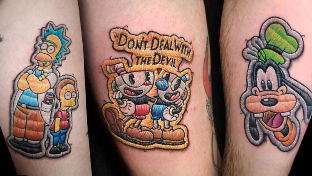Tattoo, Idee, Aufnäher, Simpson, Homer, Walt Disney, Lettering