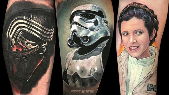 Tattoo, Idee, Realistic, Portrait, Star Wars, Movie, Schauspieler