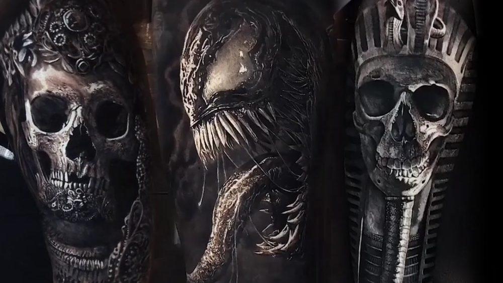 Tattoo, Idee, Horror, Alien, Schädel, Venom