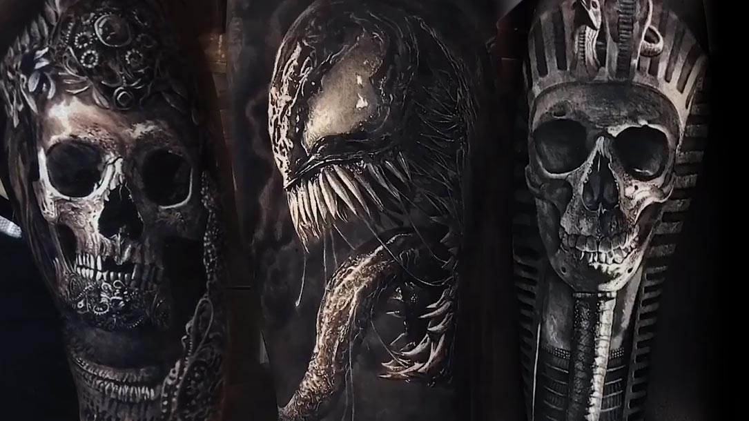 Tattoo, Idee, Horror, Alien, Schädel, Venom