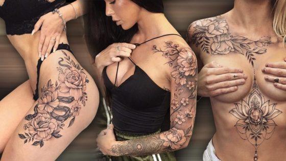 Tattoo, Idee, Blume, Schlange, Edelstein, Weiblich