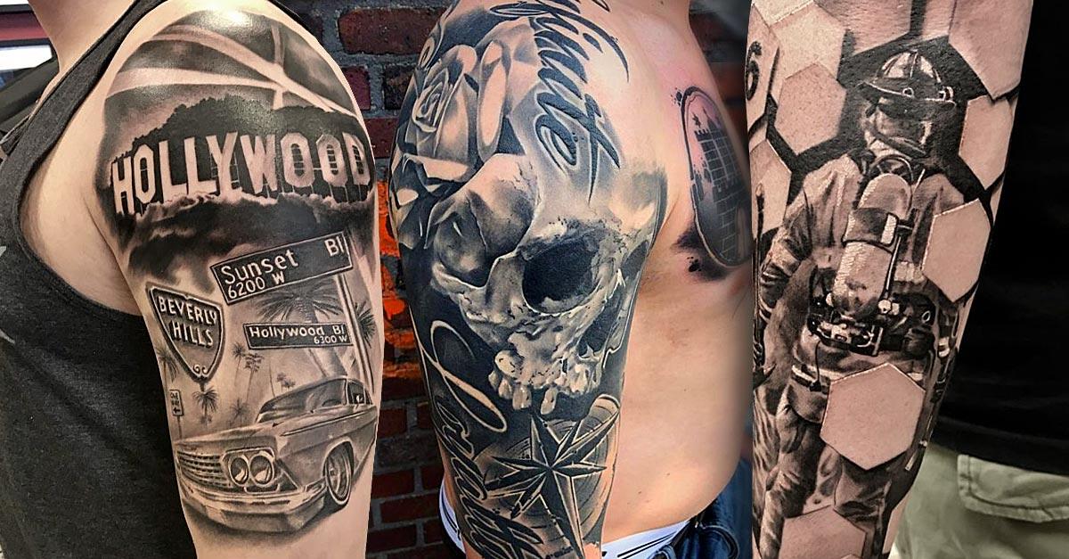 Tattoo, Idee, Männlich, Lettering, Realistic