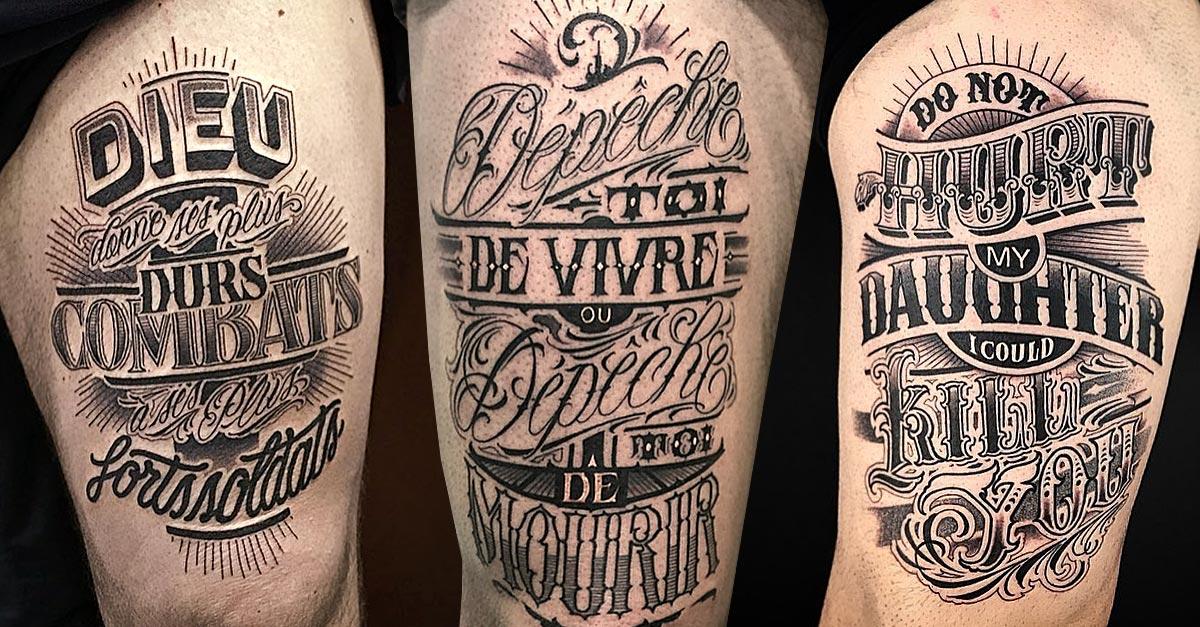 Tattoo, Idee, Lettering