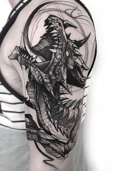 Bedeutung drachen tattoo Drachen Tattoo