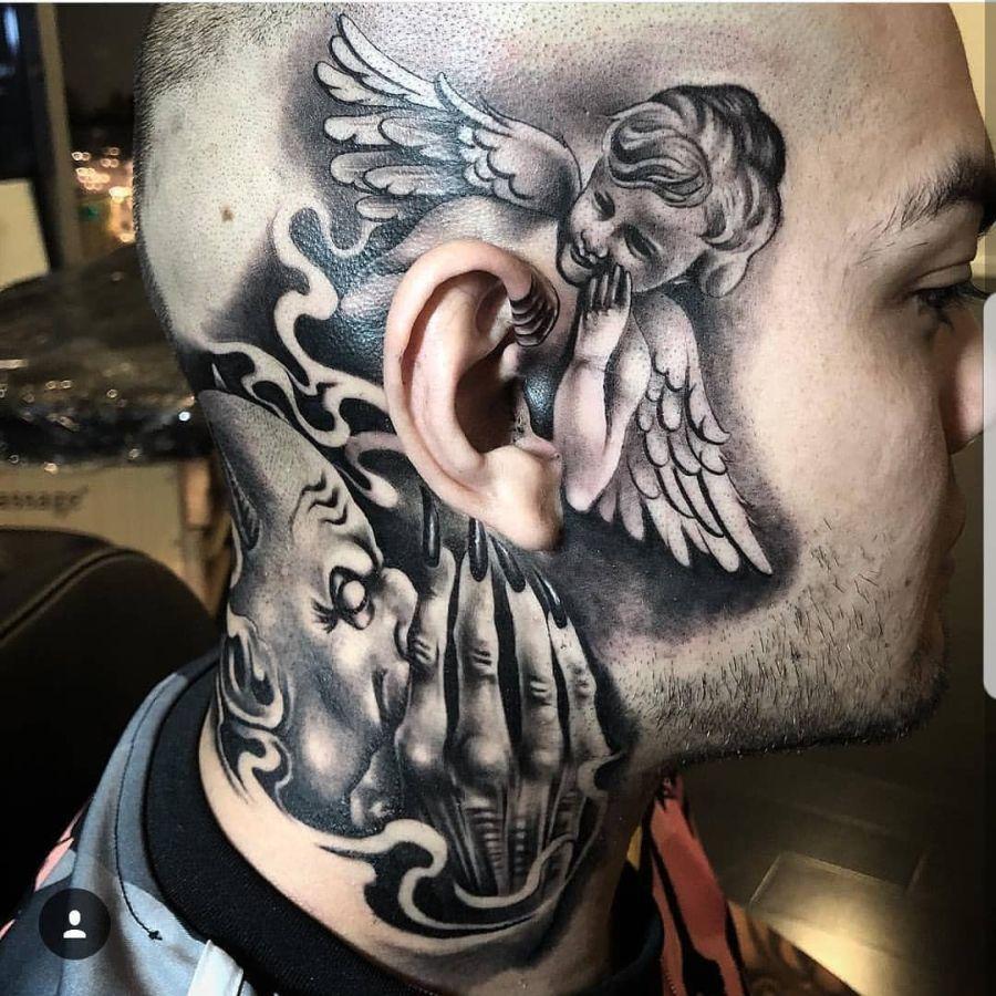 Engel und motive teufel tattoo Tattoo motive