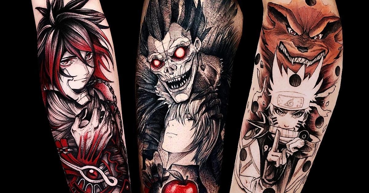 Intensive Blackworks Aus Der Anime Welt Tattoo Spirit Find a local tattoo shop near you in our tattoo artist and. intensive blackworks aus der anime welt