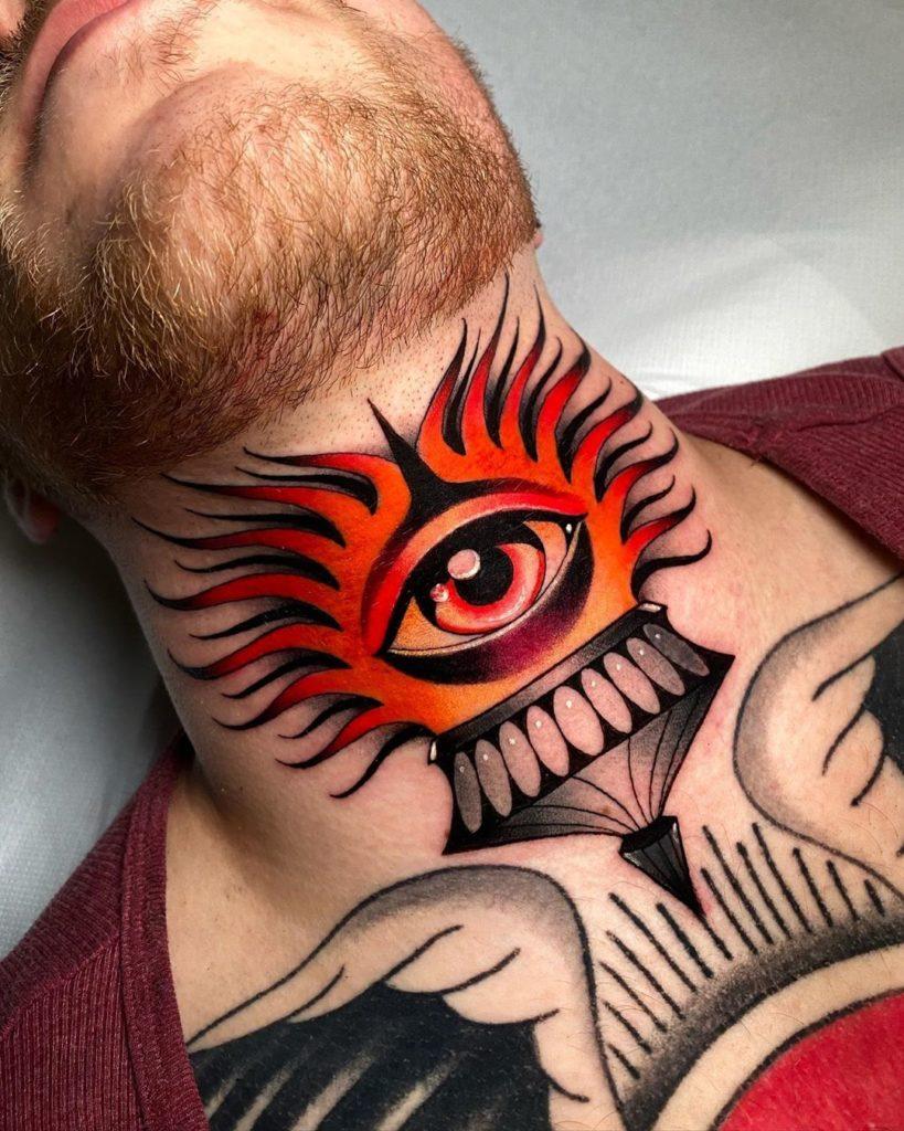 Kleine hals tattoos männer